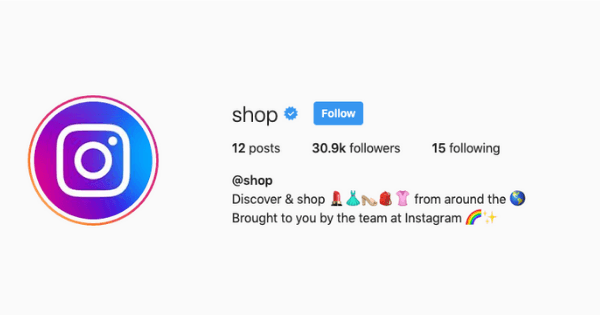 what is instagram shop?